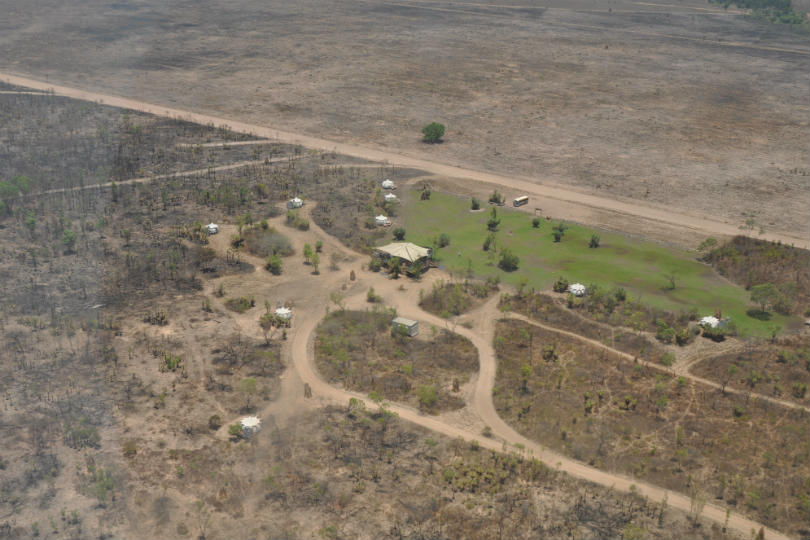 An aerial view of the Northern Territory