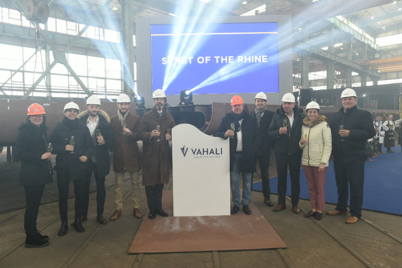 Saga marks keel-laying of new river ship