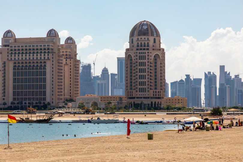 Beach at the Katara Cultural Village in Qatar. Picture: Peter Ellegard