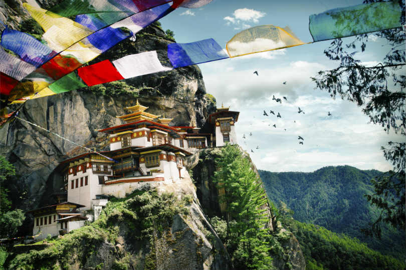 The Tiger's Nest Monastery in Bhutan