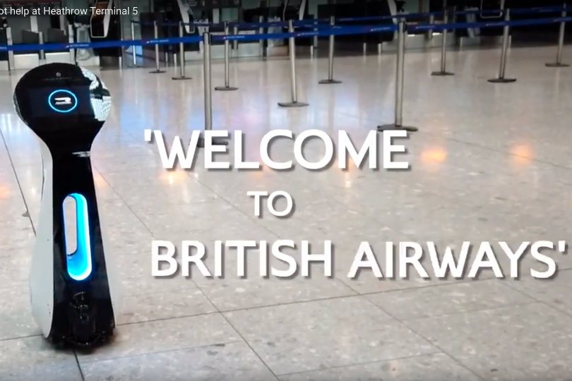 Roaming AI robots coming to Heathrow airport