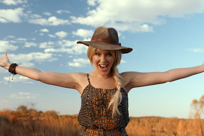 Kylie Minogue was part of the Matesong campaign. Picture: Tourism Australia