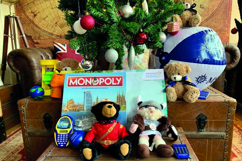 """Ponders also held a gift giveaway, putting to good use """"travel-branded nik naks"""" it had collected"""