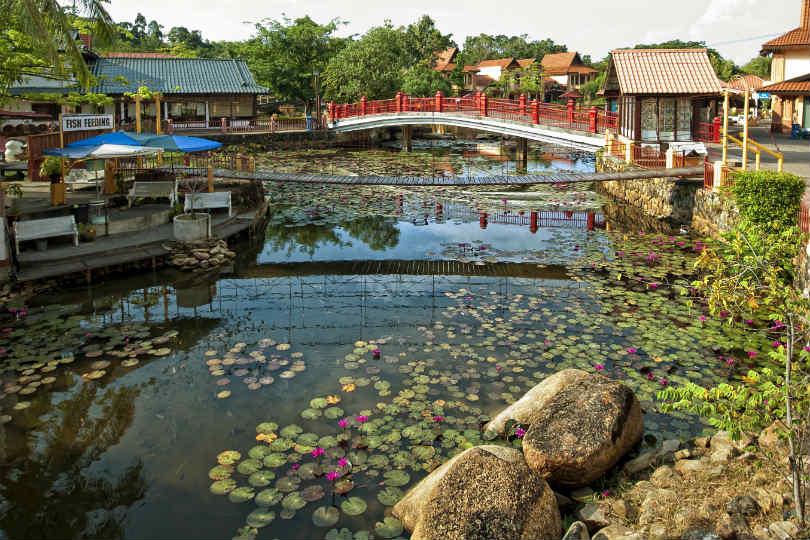 An oriental village on Langkawi