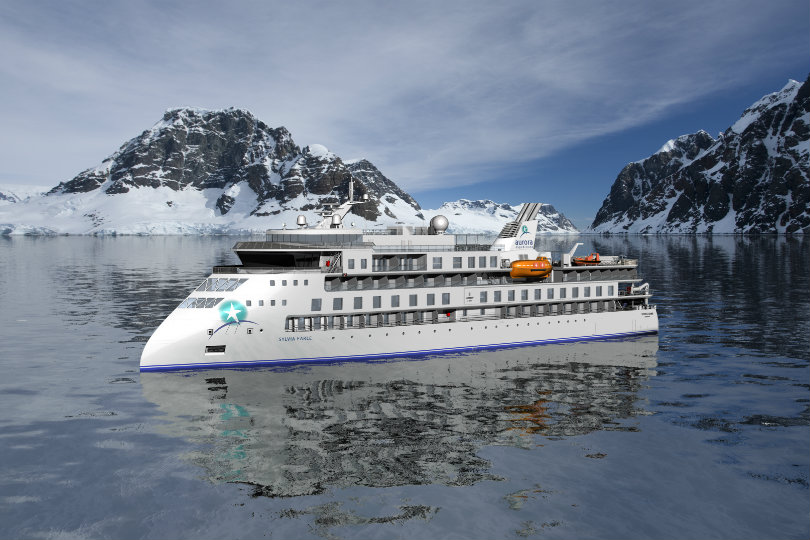 The ship will build on the X-Bow design of Aurora's first polar ship the Greg Mortimer