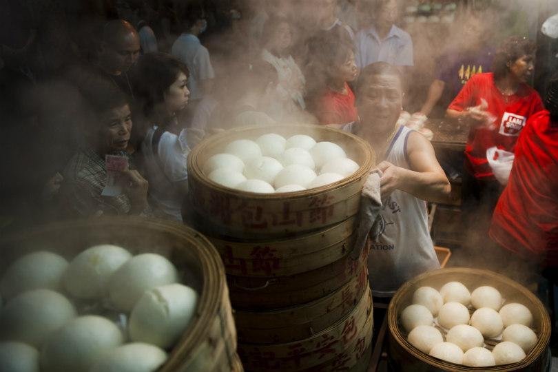 The Cheung Chau Bun Festival in Hong Kong