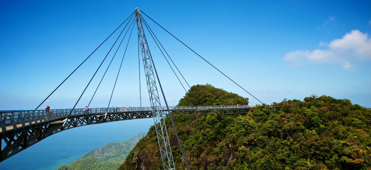 The SkyBridge in Langkawi is 125 metres long