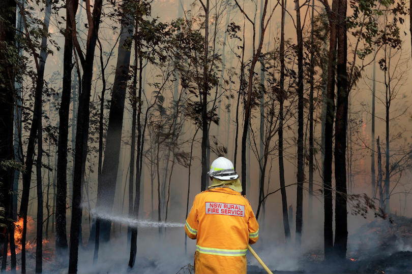 Australia is in the midst of a wildfire crisis. Picture: Rick Rycroft AP