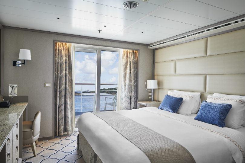 A suite onboard Silversea's Silver Shadow