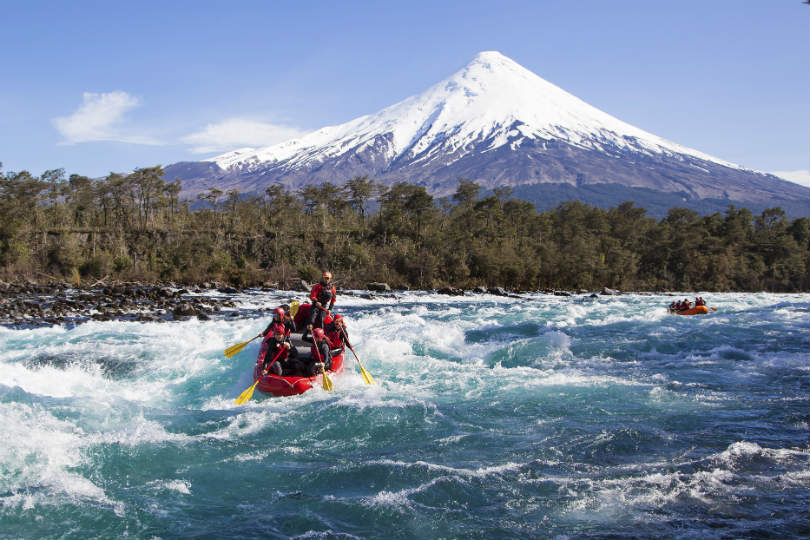 There is white water rafting available in Chile