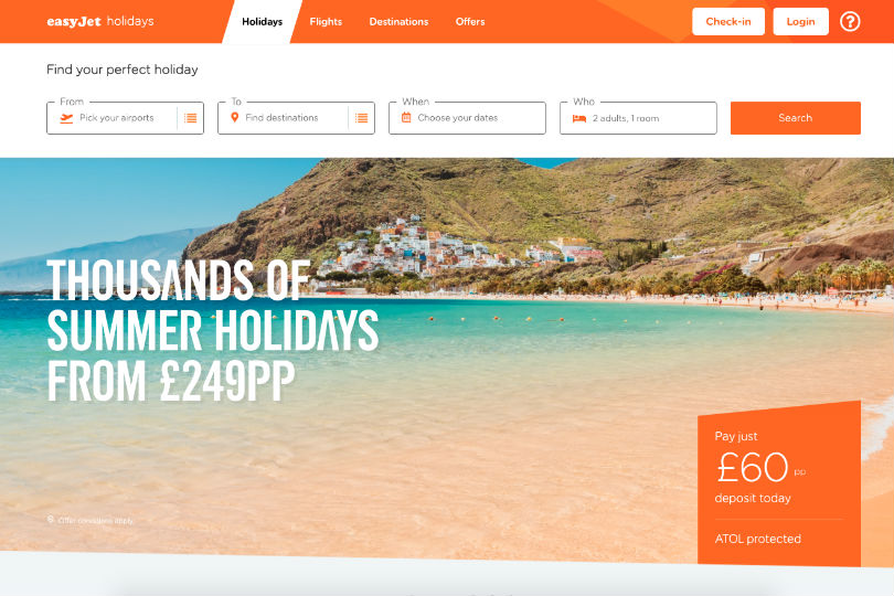 EasyJet Holidays could break even in its first year