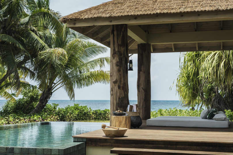 Suites and rooms feature their own infinity pools