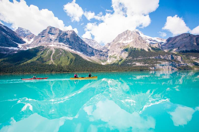 Jasper National Park is ideal for canoeing and kayaking