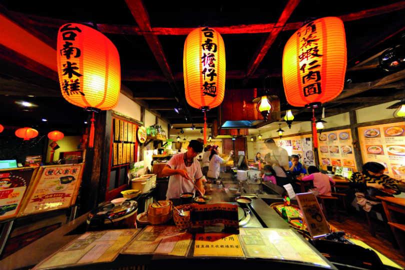 A night market in Taiwan