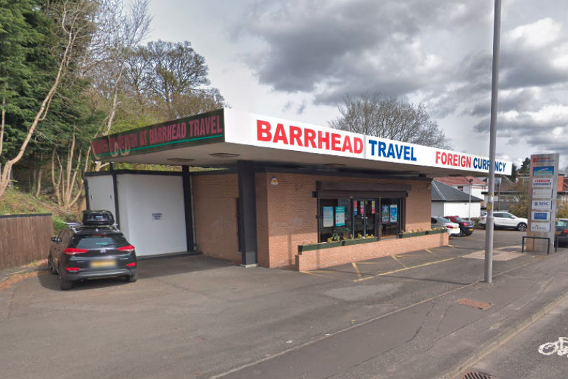 The incident happened at Barrhead Travel in Newton Mearns on Friday (17 January). Picture: Google