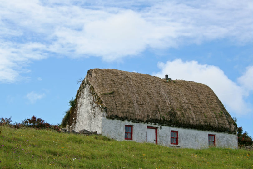A cottage in the Aran Islands, Ireland