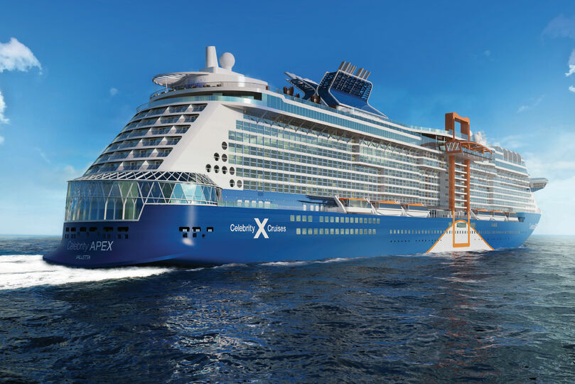 Celebrity Cruises takes 'virtual delivery' of Celebrity Apex