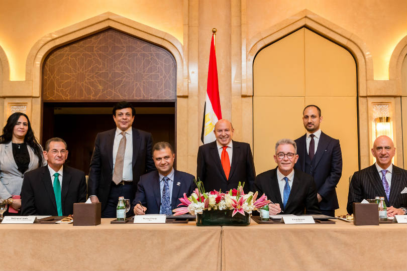 The signing ceremony for The St Regis Almasa