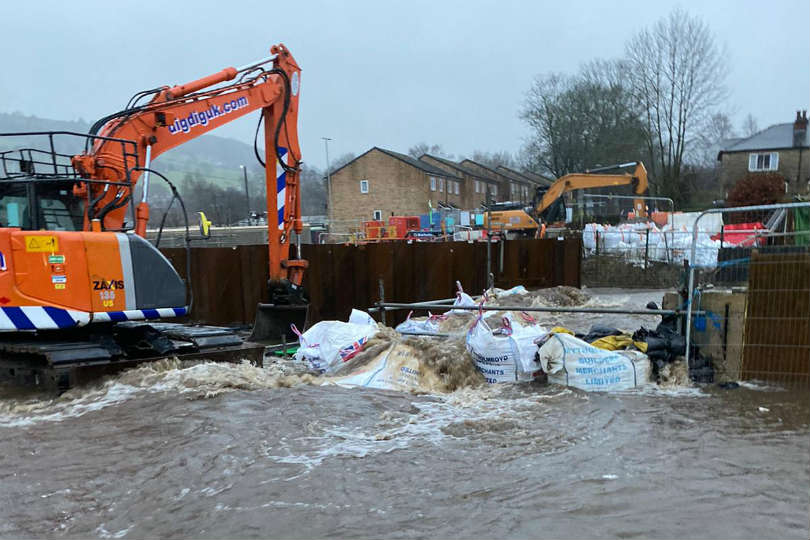 The River Calder's flood defences were not enough to hold the water