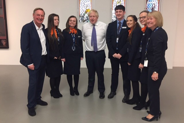 Hays Travel apprentices meet with Boris Johnson