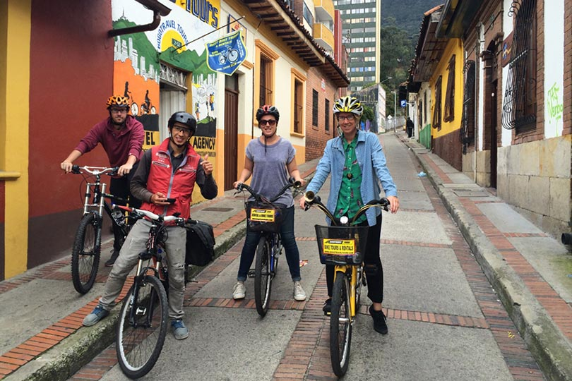 An Intrepid Travel group in Colombia