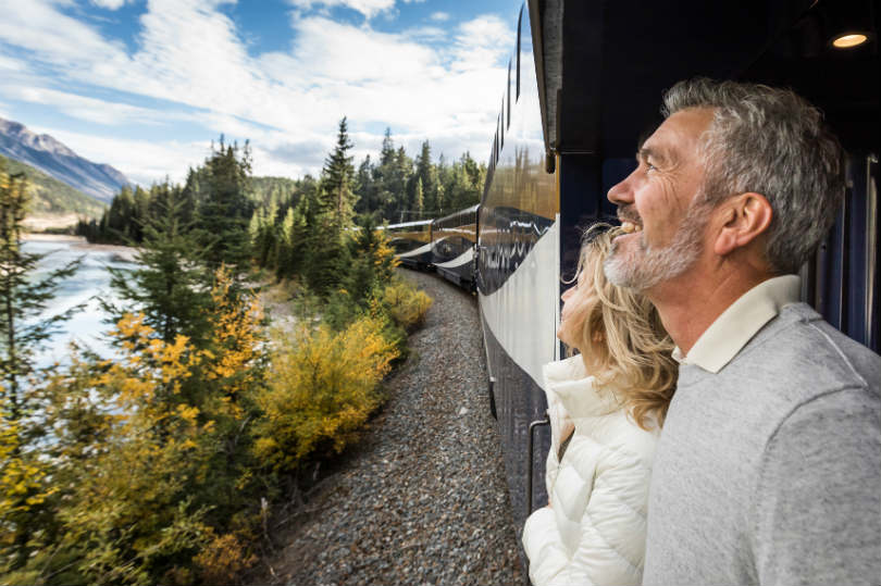 Rocky Mountaineer's GoldLeaf carriages offer plenty of viewing opportunities