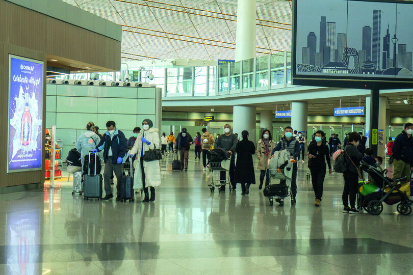 Social distancing poses particular challenges at airports
