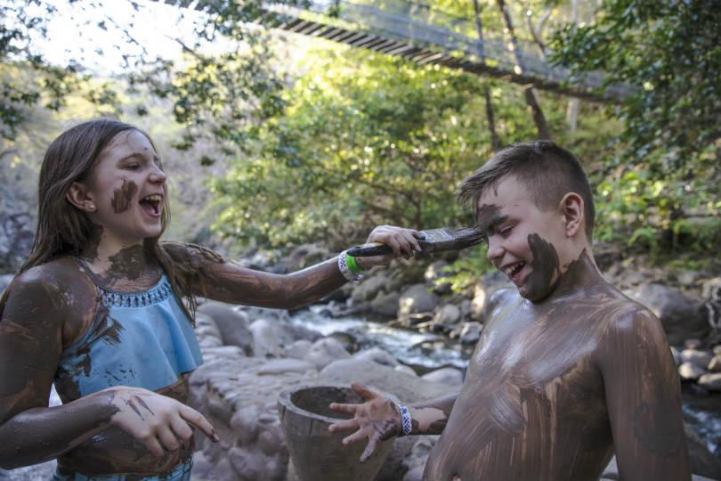 Children playing in the Costa Rica Rincon de la Vieja national park. Picture: Oana Dragan