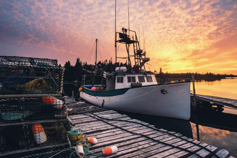 A fishing village in Canada's Nova Scotia