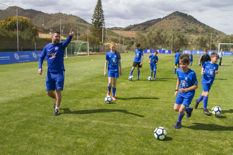 The Chelsea FC Foundation Soccer School at La Manga in Spain