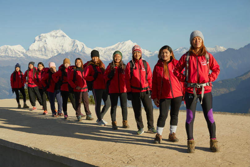 Travellers on an Intrepid Travel women-only trip to Nepal, Poon Hill
