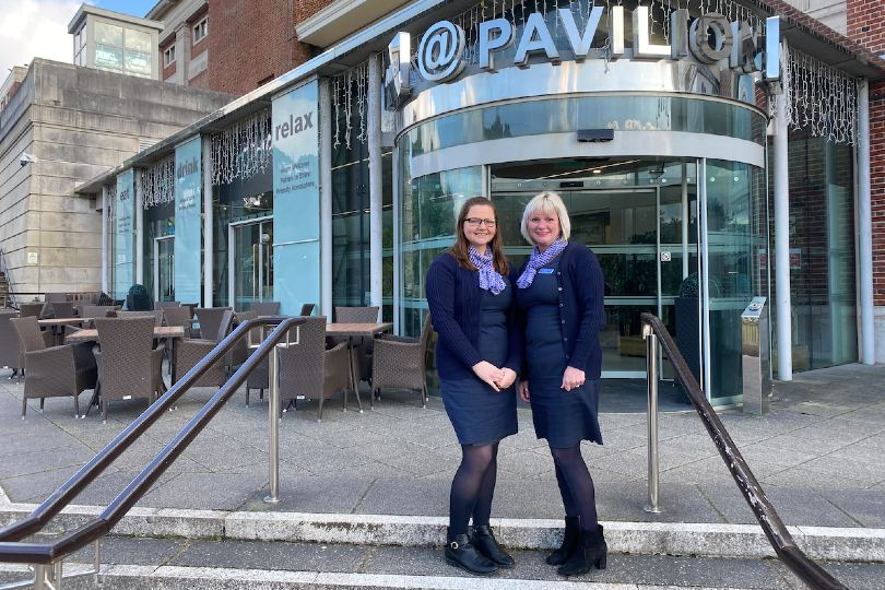 Fred Olsen Travel's Beth Pearce and Clare Ruffell