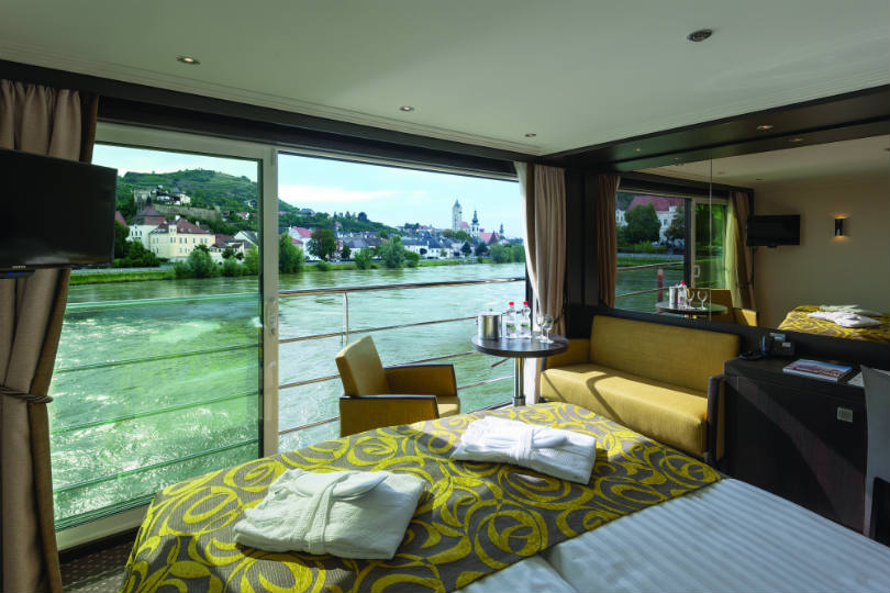 A cabin onboard Avalon Waterways Active & Discovery's sailing