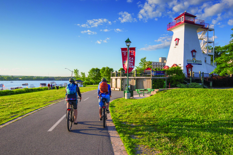 New Brunswick is home to myriad cycling trails.