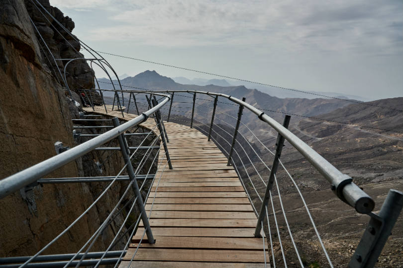Ras Al Khaimah's Jais Adventure Peak has a Sky Bridge