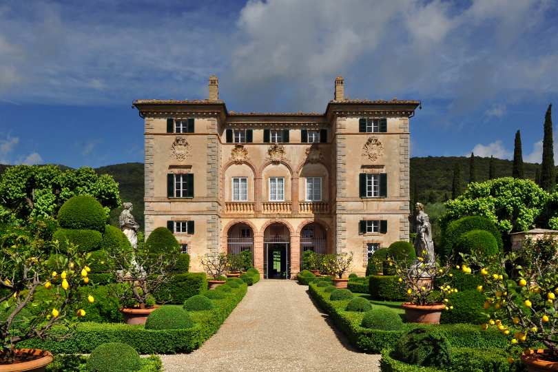 Villa Cetinale was constructed in 1680 for Pope Alexander VII