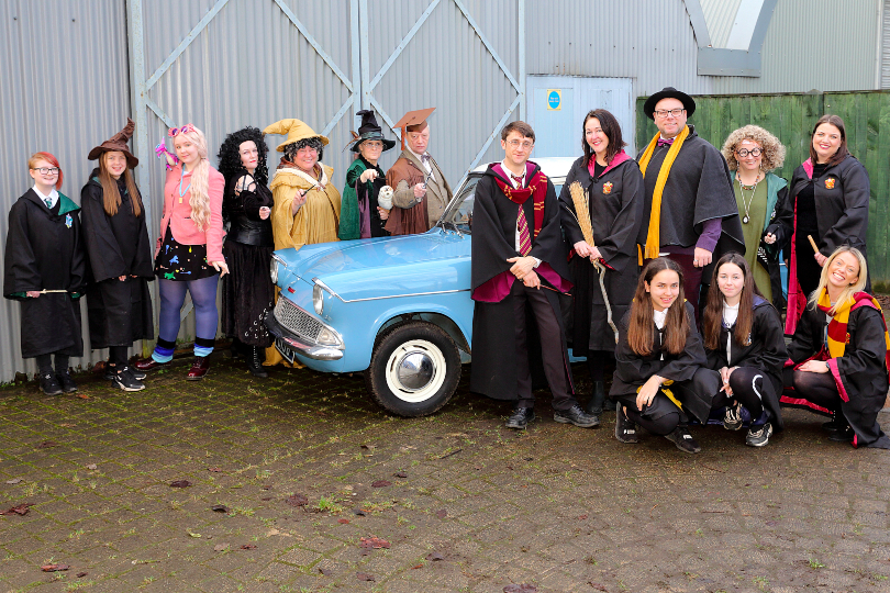 Thorne invited 30 All About the Magic families to a local Harry Potter-themed witches and wizards event.