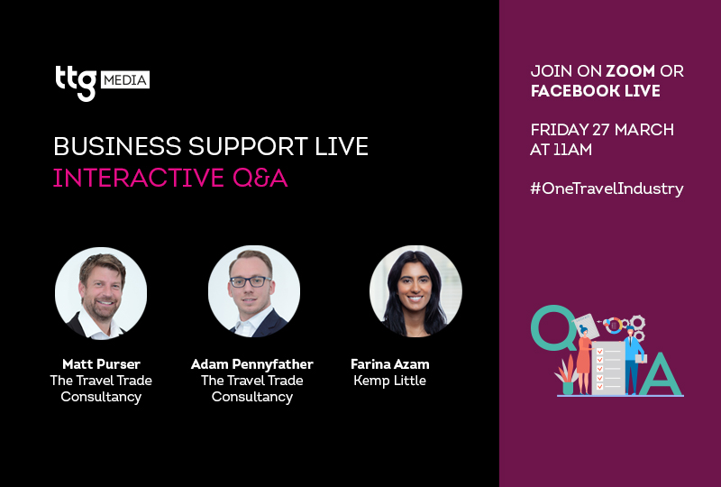 Tune in to TTG's Business Support Live events