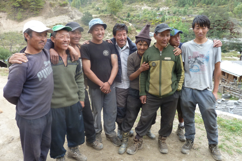 The Mountain Company's mission is to raise 25,000 Nepalese rupees (about £175) for each of its 21 guides living in Nepal and 11 in Bhutan