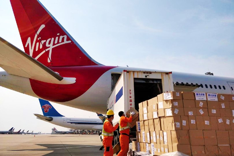 Virgin will operate eight medical cargo flights during April