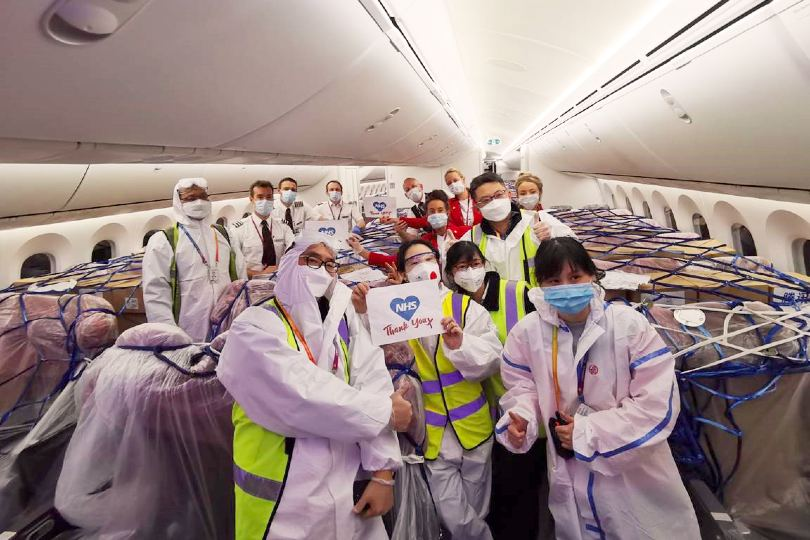 Gallery: Virgin flies in 350K pieces of NHS coronavirus equipment