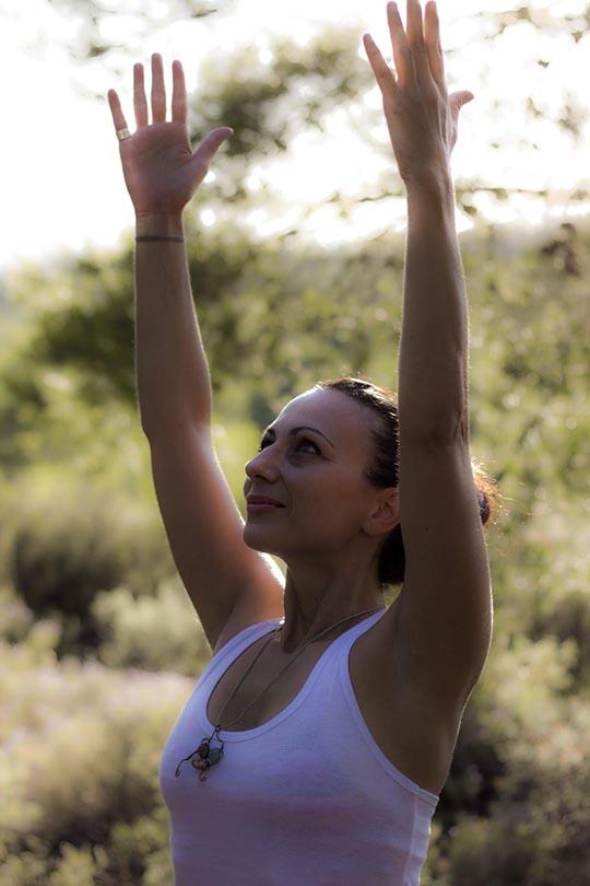 Evi Mpouzaki, yoga instructor