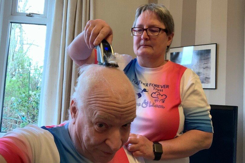 Graeme Brett had his hair shaved off over the weekend for a very worthy cause