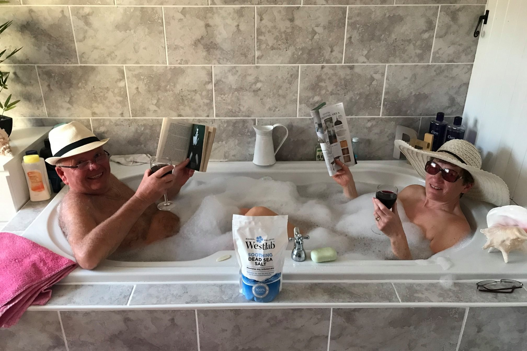 Miles Morgan clients recreate Dead Sea dip from home