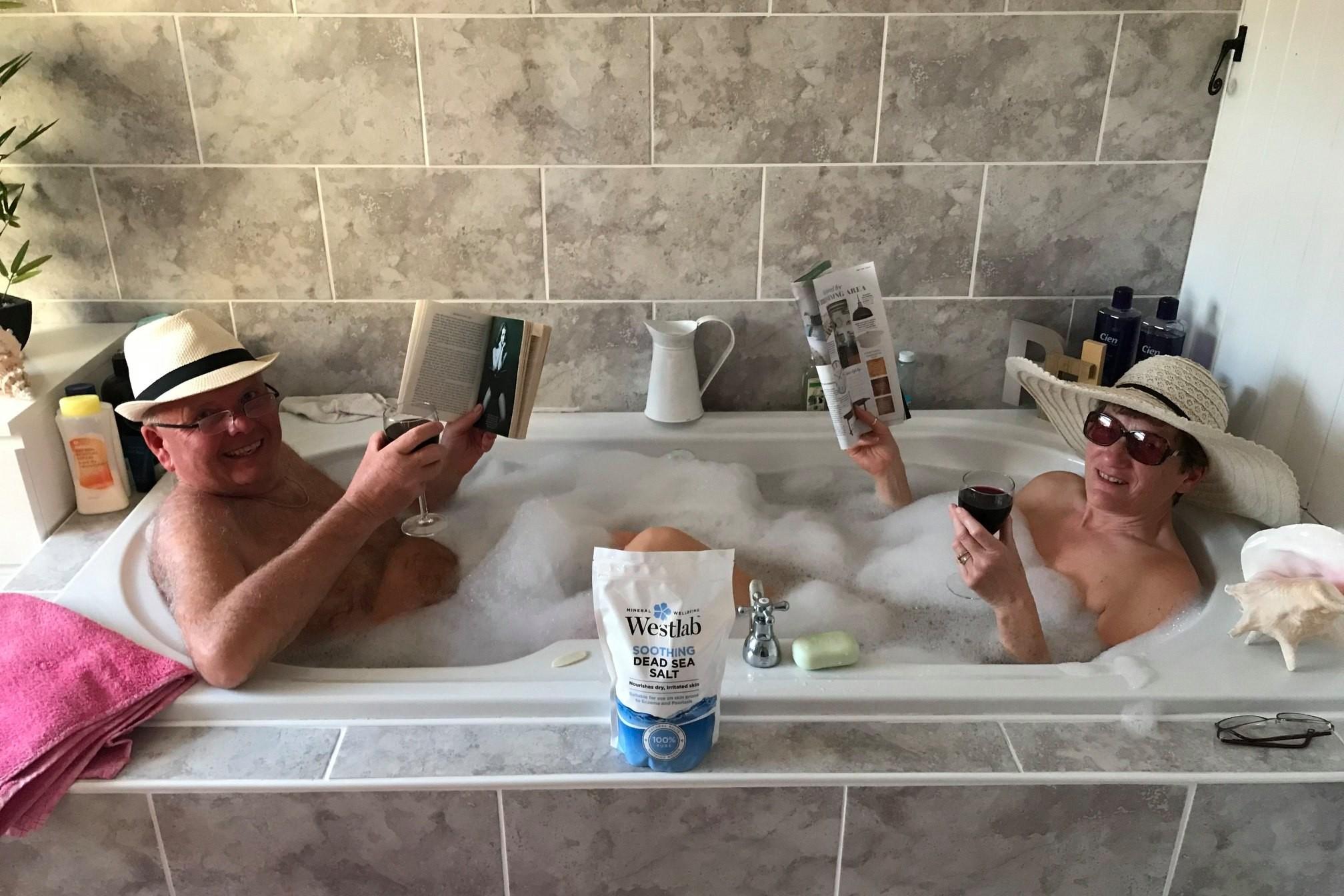 Miles Morgan clients recreate Dead Sea dip from home