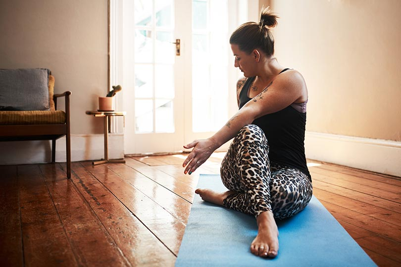 Four stretches to combat neck and back pain when working from home