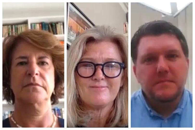 L-R: Edwina Lonsdale, Mundy Cruising; Mary McKenna, Cruise Holidays; Paul Hardwick, Fred Olsen Travel