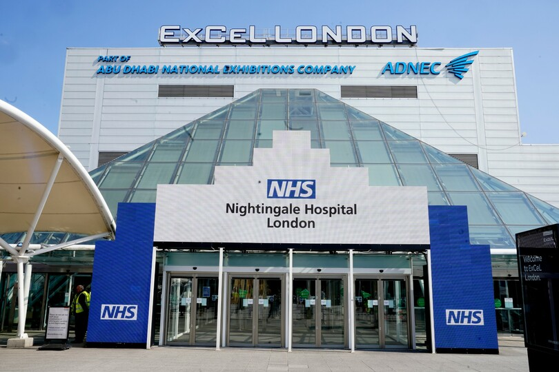 The event's venue, ExCeL London, has been converted into a NHS field hospital