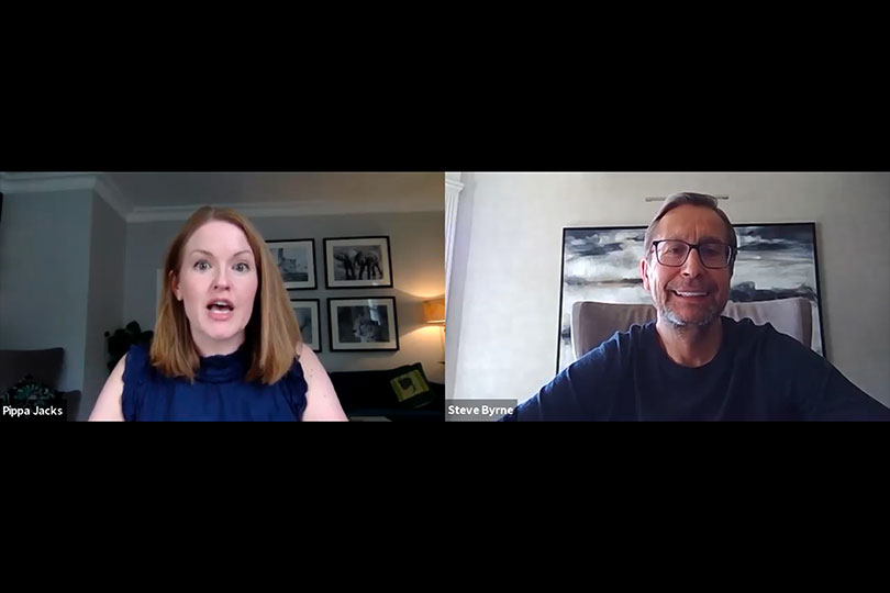 Travel Counsellors' Steve Byrne with Pippa Jacks in the TTG interview