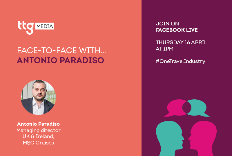 MSC's Antonio Paradiso to take part in TTG Face to Face interview